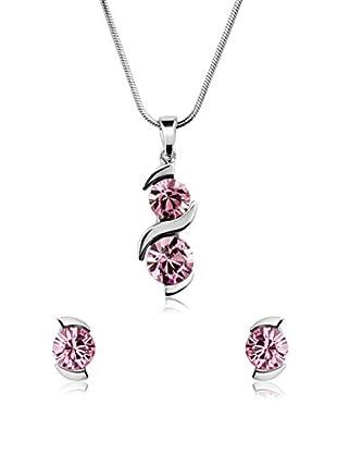 Passion Obscure Set Halskette und Ohrringe  rosa