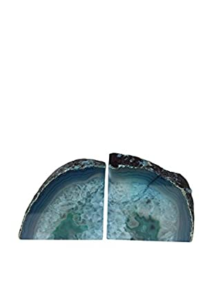 Teal Agate Bookends, Small