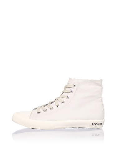 SeaVees Men's Army Issue High-Top Sneaker (White Sand)
