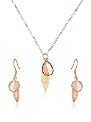 Cordoba Jewels Set Kette, Anhänger und Ohrringe vergoldetes Silber 925