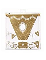 Charmed celebrations party porcelain gold bunting