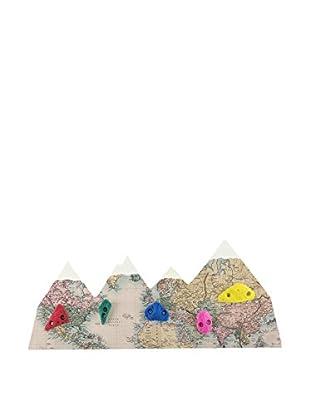 LITTLE NICE THINGS Perchero De Pared Worldmap