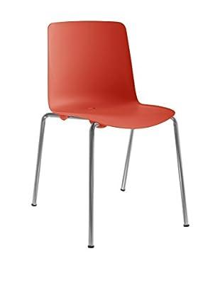 COLOS Stuhl 2er Set Vesper 1 rot/chrom