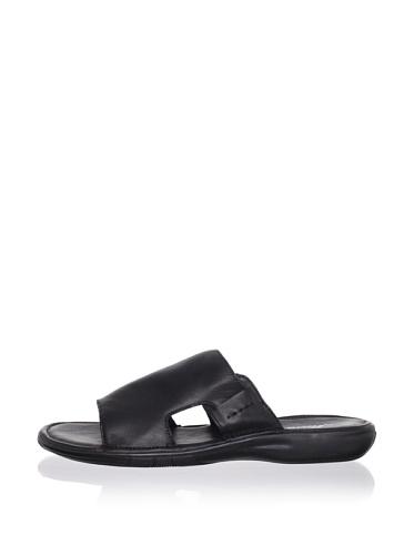 Kenneth Cole New York Men's Shape Recorder Slide Sandal (Black)