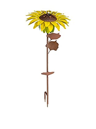 Desert Steel Sunflower Garden with Torch