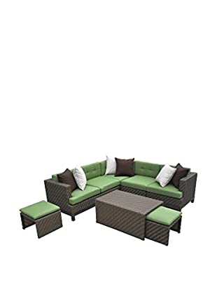 AE Outdoor Hampton 8-Piece Sectional Set, Green