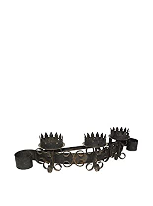 Uptown Down Found Black Wrought Iron Candle Sconce