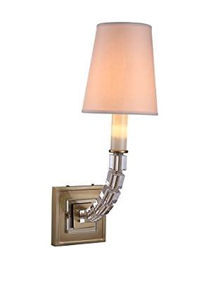 Urban Lights Cristal 1-Light Wall Lamp, Burnished Brass
