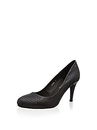 Sofie Schnoor snakeskin pump, Damen Pumps, Grau (dark grey), 40 EU