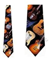 Guitar II Tie Mens Music Instrument Neckties by Ralph Marlin