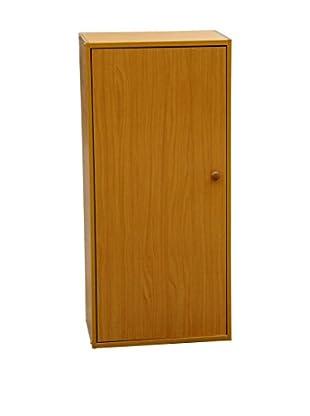 ORE International 3-Tier Adjustable Book Shelf With Door, Brown