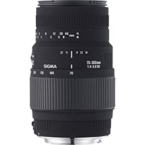Sigma 70-300mm F/4-5.6 DG Macro Telephoto Zoom Lens for Nikon DSLR Camera