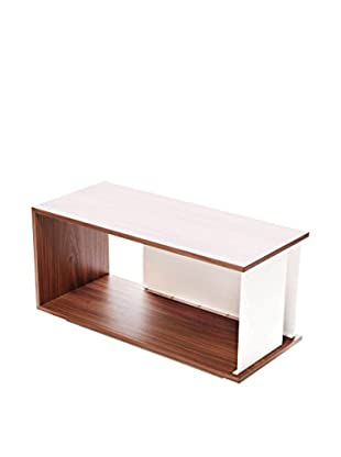 nine6 City Life Module Coffee Table, Walnut/White