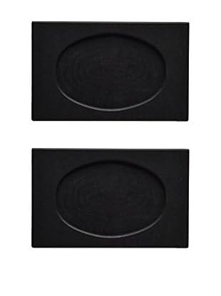 Fortessa Set of 2 Rectangular Slate Dish Underliners