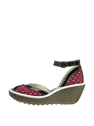Fly London Sandalias Ydel (Rojo / Negro)