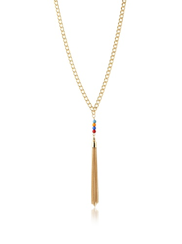 Jules Smith Gold Gypsy Tassel Necklace