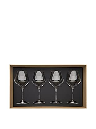 Guy DeGrenne Set of 4 18.4-Oz. Hypnotic Tasting Glasses, Transparent