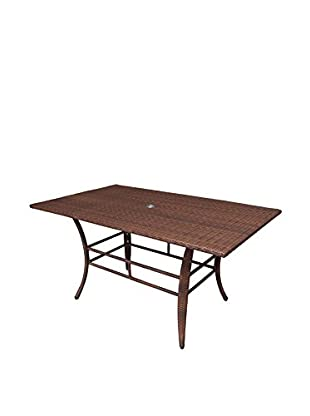 Panama Jack Key Biscayne Woven Dining Table, Antique Brown