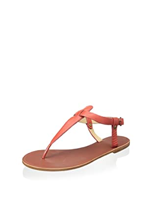 Matiko Women's Meli Flat Thong Sandal (Red)