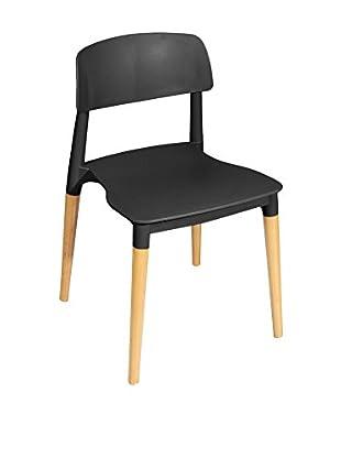 Glam Home Stuhl 2er Set Lisboa schwarz/braun