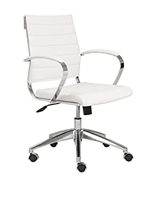 Euro Style Axel Low Back Office Chair, White