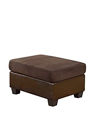 ACME Furniture Connell Corduroy Ottoman, Chocolate
