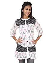 Rajrang Cotton Kurti - PTP00107 (Black And White)