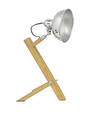 Three Hands Wood and Metal Lamp