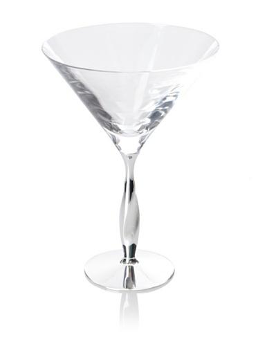 Nambé Twist Martini Glass, Clear
