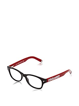 D Squared Montura Dq5030 (51 mm) Negro / Rojo