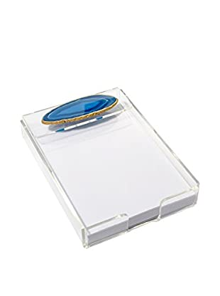 Mapleton Drive Blue Agate & Acrylic Notepad Tray