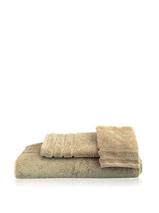 bambeco 3-Piece Organic Cotton 700 Gram Towel Set, Flax