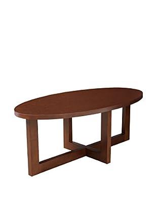 Regency Oval Veneer Coffee Table, Mocha Walnut