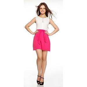 Gristones White And Pink Women Dress 416WHTPNK