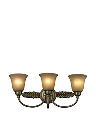 Artistic Lighting Ventura 3-Light LED Bath Bar, Antique Brass
