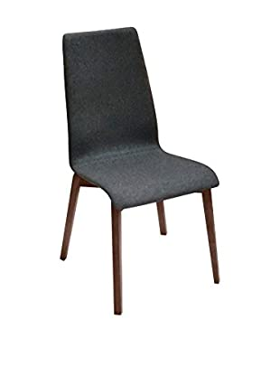 Domitalia Jill Chair, Dark Grey/Brown