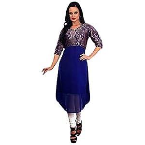 Saree dotcom Women's Georgette Kurta, Size 40 (Blue)