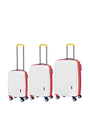 Travelers Club Getaway Collection 3-Piece Oversized Expandable Hardside Double-Spinner Luggage Set, White