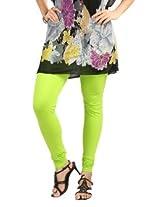 Teemoods Womens Cotton Parrot Green XX-Large Leggings_TM-1013-XXL