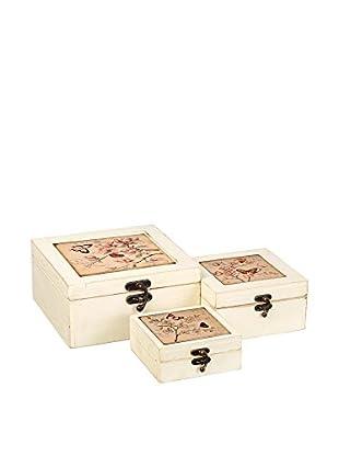 Romantic style Set Caja de Almacenamiento 3 Uds. Butterfly