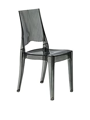 LeisureMod Delco Dining Modern Chair, Transparent Black