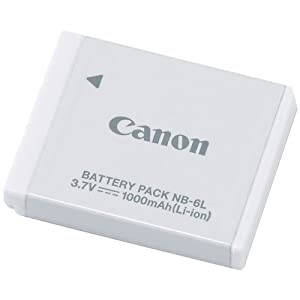Canon NB-6L Li-Ion Battery Pack for Canon SD770IS SD1200IS & D10 Digital Cameras [Retail Packaging]