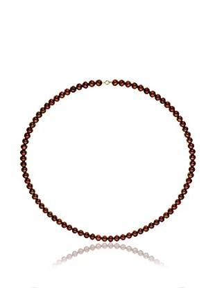 Compagnie générale des perles Collana Rosso Scuro