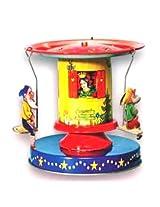Snow white & the seven dwarfs Tin Carousel collectible vintage toy
