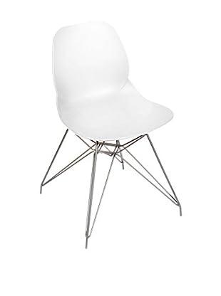 Glam Home Stuhl 2er Set Madrid weiß