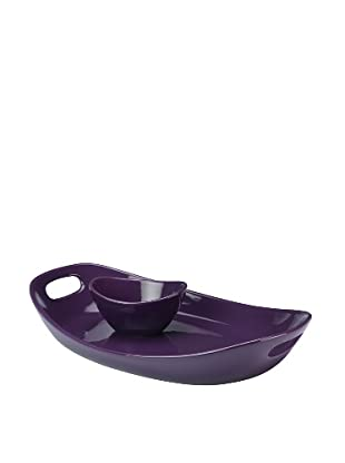 Rachael Ray Stoneware Chip 'N Dip (Purple)