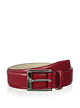 Leone Braconi Men's Suede Trouser with Tonal Stitch Belt