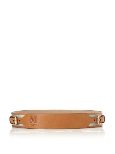 M Missoni Women's Two Buckle Belt (Beige/Blue)