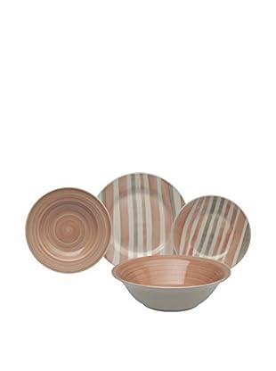 Tognana  Geschirr 19 tlg. Set Uniqua Cinnamon rosa pulver
