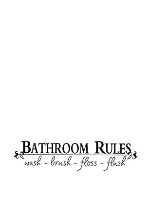 LO+DEMODA Wandtattoo Bathroom Rules